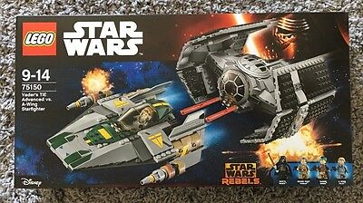 Lego SW Star Wars Vader's TIE Advanced vs. A-Wing Starfighter 75150