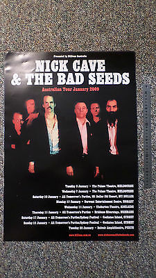 Nick Cave & The Bad Seeds. Australian Tour Poster. 59cm by 42cm. 2009