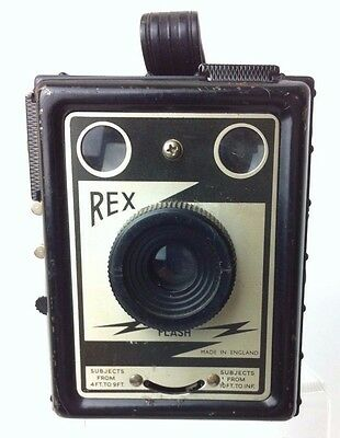 Vintage Rex Flash Box Camera Made in England (c1955)