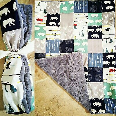 Handmade Patchwork Quilt Baby Child Boy Girl See Pics Any Fabrics Personalised