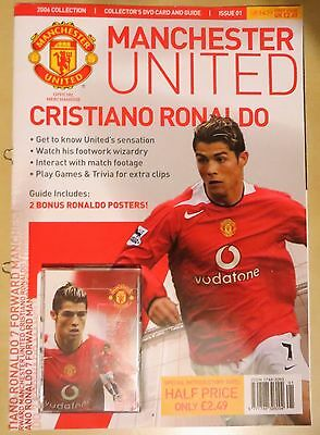Manchester United Christiano Ronaldo Collectors DVD Card and Magazine 2006
