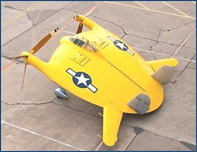 RC plans & patterns CHANCE-VOUGHT V-173 FLYING FLAPJACK Electric span 36""