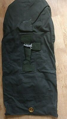 HUGE HEAVY DUTY COTTON CANVAS ARMY KIT BAG holdall tool work olive
