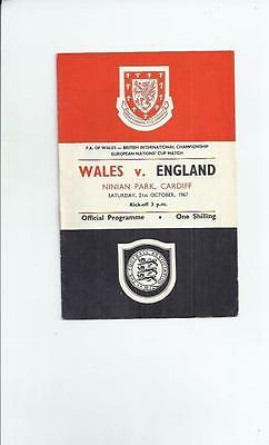 Wales v England at Cardiff  Football Programme 1967