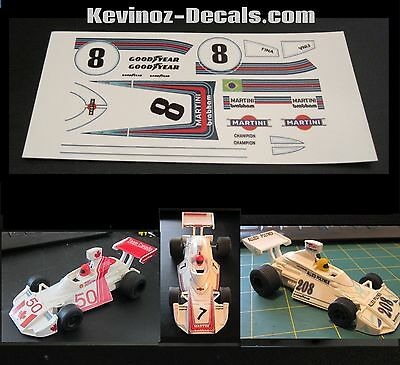 *** New Version*** Scalextric Decals for Brabham BT44b C120 - 4 Variations