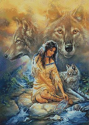 I Dream Of Wolves # 3 - Counted Cross Stitch Chart