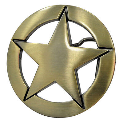 Bronze Sheriff US Marshal Star Badge Buckle to attach to own belt Cowboy Lawman