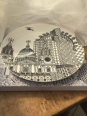 Royal Doulton Platter London Calling by Charlene Mullen. New in Box/unused