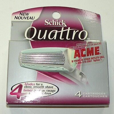 Schick Quatrro For Women 4 ultra-thin Cartridges