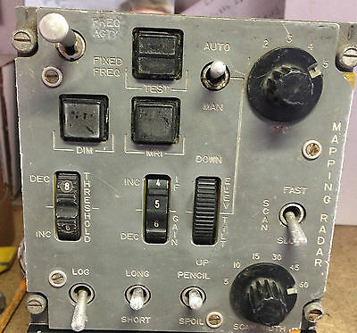 RAF Aircraft  GR4 Panavia Tornado Maping Radar Ground Control Panel
