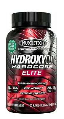 Muscletech Hydroxycut Hardcore Elite 100 Capsules - Thermogenic Weight Loss