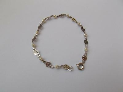925 Sterling Silver and Freshwater Pearl Bracelet