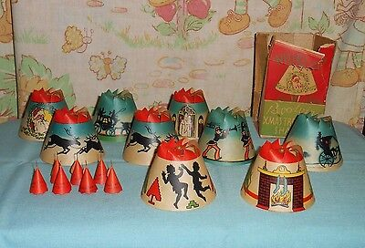 vintage Christmas WHIRL-GLO REVOLVING XMAS TREE LIGHT SHADES