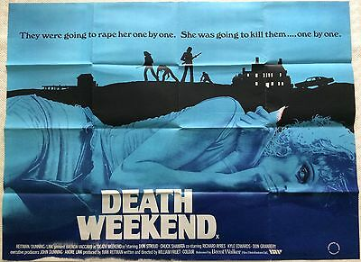 Death Weekend (The House By The Lake) Original British Movie Quad 1976