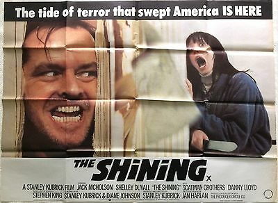 The Shining Original British Movie Quad 1980 Stephen King Stanley Kubrick