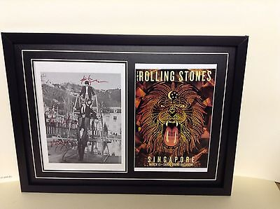 Rolling Stones Hand Signed/Autographed Songsheet with Photo & COA