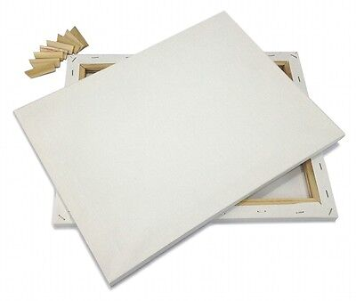 """Lot of 4 ARTIST CANVAS 30x30"""" Framed Pre-Stretched BLANK Cotton Double Gesso"""