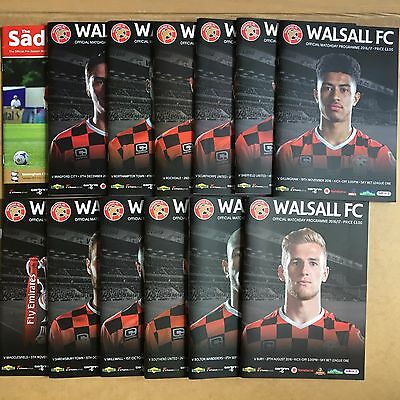 2016/17 - Various Walsall Home Programmes Choose From List