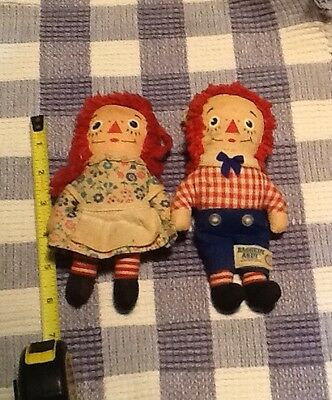 Vintage Raggedy Ann and Andy Doll, with tags. Knickerbocker Toy Company