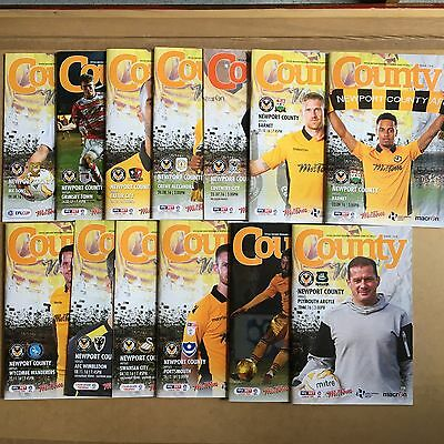 2016/17 - Various Newport County Home Programmes Choose From List
