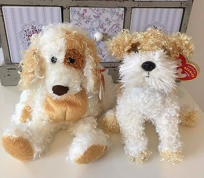 Original Beanie Babies - Diggs and Scrappy the Dogs 2004 - RETIRED- bundle -Cute