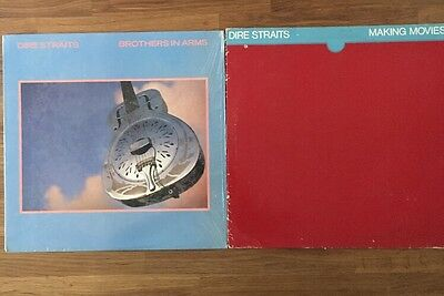 Dire Straits Vinyl LP Lot (2) Brothers In Arms - Making Movies