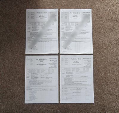 Kingsman 2 The Golden Circle (2017) 4 Call Sheets  Original Production Used Prop