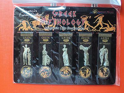 "Souvenir Greece Magnetic Clip Bookmarks ""Greek Mythology"""