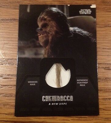 2013 Topps Star Wars Jedi Legacy Chewbacca Wookie Fur Relic CR-4 (1 of 4) RARE