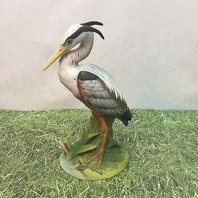 Blue Heron Andrea Sadek Bird Porcelain Bird Figurine Hand Painted 6721 Vintage