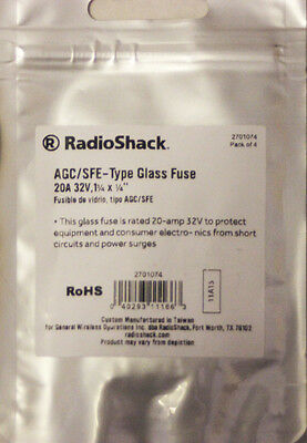 15 Amp 32V Automotive Fuses, new PKG of 4 RadioShack 270-1074