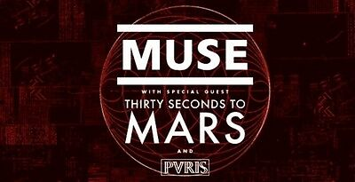 2 Tickets Muse And 30 Seconds To Mars July 22nd Wantagh + Premium Parking Ticket