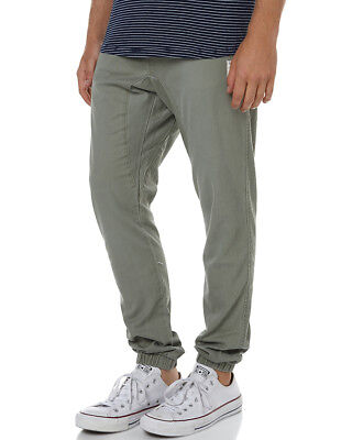 New Rusty Men's Hook Out Mens Jogger Pant Cotton Spandex Green