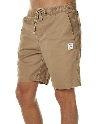 New Rusty Men's Off The Hook Mens Elastic Short Cotton Natural