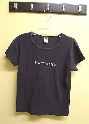 Stott Pilates TShirt M Medium Black exercise tee t-shirt top workout Yoga