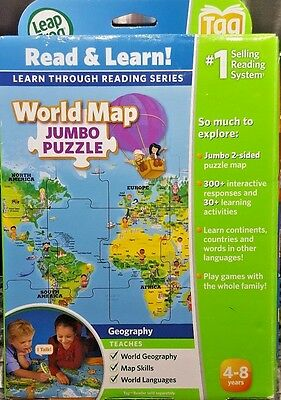 New! LeapFrog Tag LeapReader Interactive World Map Puzzle