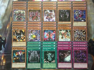 Yugioh Tournament Ready To Play Archfiend 40 Card Deck Complete Heiress Fiend NM
