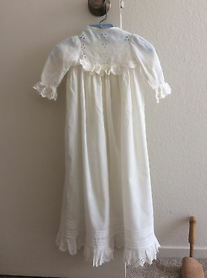 Vintage Batiste Cotton Christening Gown