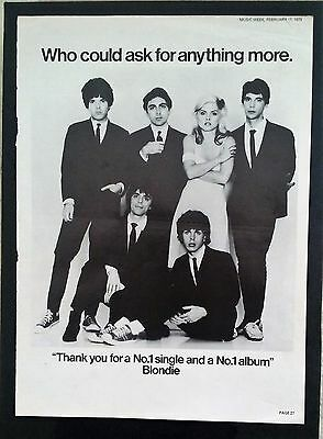 Blondie - Music Week Magazine - Feb 17th 1979