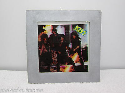 Rare Kiss No Makeup! Glass Picture 3D Licenced 1985 Custom Images Inc in Mailer