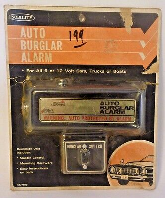 Vintage 1980's Auto Burglar Alarm for 6 or 12 Volt Systems NIP