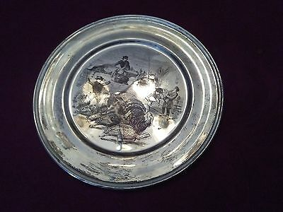 Sterling Silver Art Engraved Tray signed S.Kirk & Son