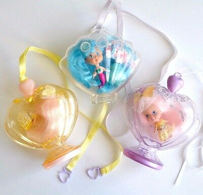 3 Liddle Kiddles vintage dolls Glitter Pretty Perfume Collection Tyco 80's toys