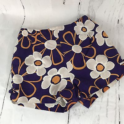 Vintage 60s Paradise Hawaii Purple Floral High Waist Shorts Size 10 B2