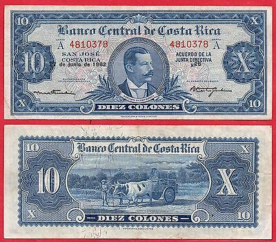 Costa Rica Banknotes 10 Colones 27/06/1962 Serie-A Xf.