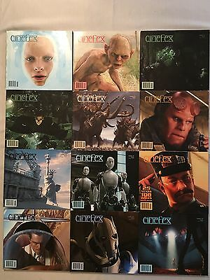 Lot of 12 Cinefex Magazines Movie Special Effects Hollywood CG Practical FX Lot