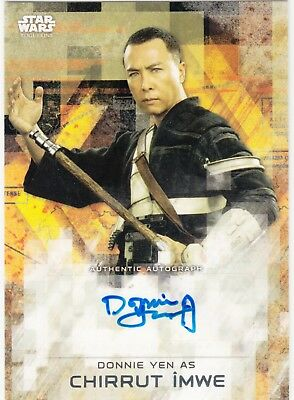 2017 Star Wars Rogue One Series 2 Auto Donnie Yen as Chirrut Imwe