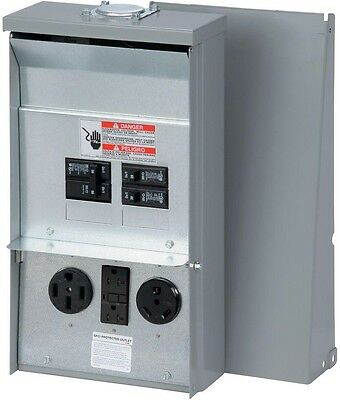 RV Electrical Power Outlet Panel Box- Unmetered Camping Accessory