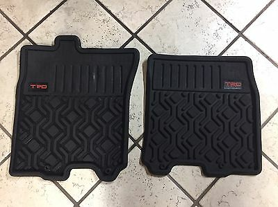 FJ Cruiser TRD Front Mats OEM Trail Teams Rubber All Weather Toyota