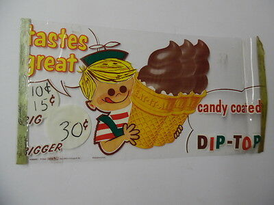 1960 EAT-IT-ALL ICE CREAM CONES Window Decal Sign Vintage Goodstix Goodren BIG